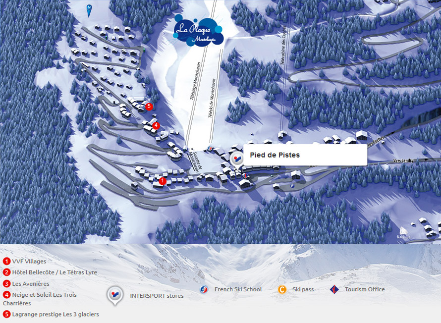 Location de ski au magasin Intersport La Plagne Montchavin